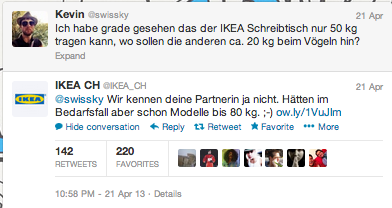 Ikea Schweiz Ikeach Twitter Mandegar Info